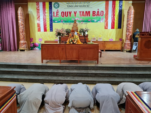 Hà Nội: Lễ Quy y Tam bảo tại Trụ sở Trung ương GHPGVN